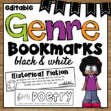 Genre Bookmarks ~ Black and White