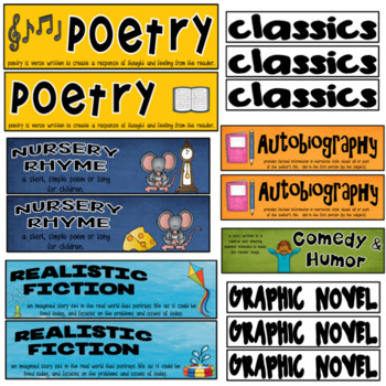 Genre Bookmarks ~ Color