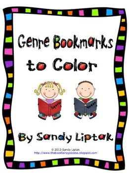 Genre Bookmarks to Color