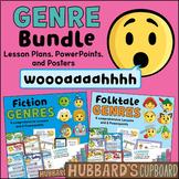 Genre Activities - Folktale Genre & Fiction Genre- Lesson Plans - Digital Option