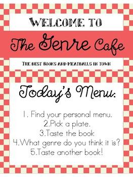 Genre Cafe: Book Tasting Classroom Activity
