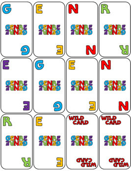 Genre Card Game Activity for the Classroom or School Library Media Center