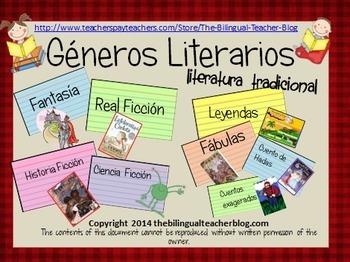 Genre Cards in Spanish
