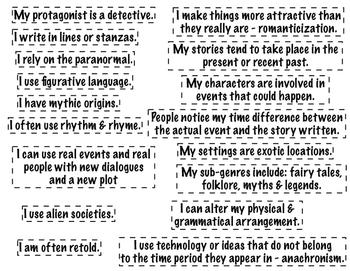 Genre Characteristics: Who Am I?