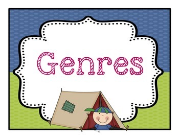 Genre Classroom Bulletin Board Posters Camping Theme