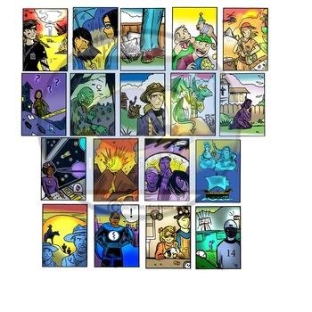 Genre Clip-Art: 38 pc. Clip-Art Set! BW & Color