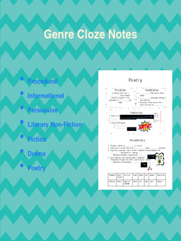 Genre Cloze Notes