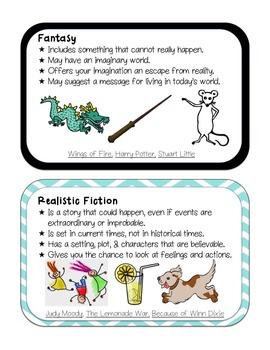 Genre Description Signs & Bookmarks