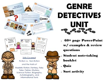 Genre Detective Power Point and Student Note Taking Booklet