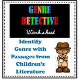 Genre Detective Practice Worksheet - Identifying Genre Bas