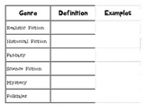 Genre Foldable for Interactive Journals