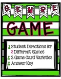 Genre Game Set with Three Game Versions {Great for Centers}