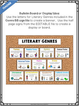 Library Skills Genre Guide for the School Library Media Center
