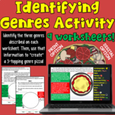 Genre Identification Activity/ Game (featuring pizza!)