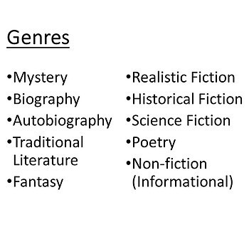 Genre Task Cards & Presentation |  Literacy or ELA Activities and Assessment