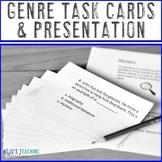 Genre Task Cards & Presentation |  Literacy or ELA Activit
