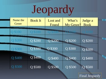 Genre Jeopardy