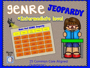 Genre Jeopardy Review Game (intermediate level)