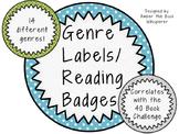 Genre Labels/ Reading Badges