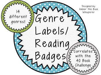 Genre Labels/ Reading Badges