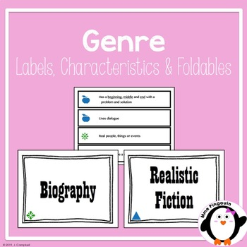 Genre Labels, Descriptions and Foldable (Fiction & Nonfiction)