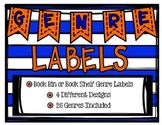 Genre Labels for Book Bins or Book Shelves- 4 varieties