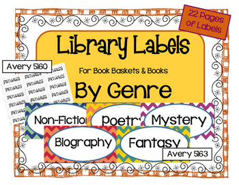 Genre Labels for Books and Book Baskets