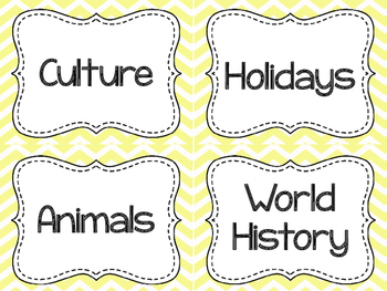 Genre Labels for Classroom Library