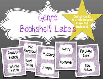 Genre Labels for Your Classroom Bookshelf
