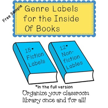 Genre Labels for the Inside of Books-Free Sample!
