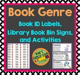 Genre Library Labels and Matching Book Labels