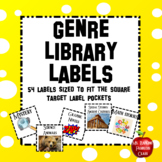 Library Labels sized for Target Square Adhesive Pockets - Reading Genre