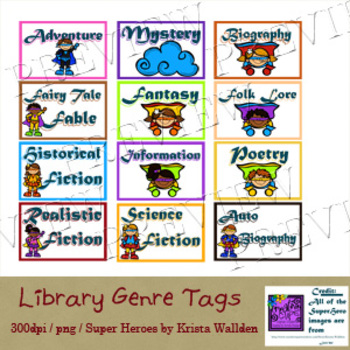Genre Library Tags to organize your books