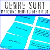 Genres Matching Cards Literacy Center