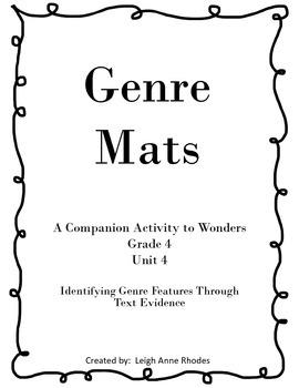 Genre Mats Unit 4 (Reading Wonders)