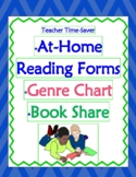 FREE Start of School Reading At-Home Program, Genre Menu & Book Share