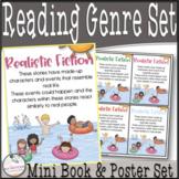 Student Genre Mini Flip Books & Classroom Posters Set