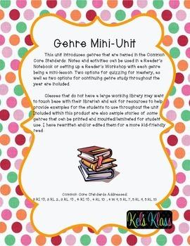 Genre Mini-Unit