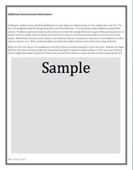 Genre: Non-Fiction / Creative Hands-On Mixed Media Poster Activity CCSS Based