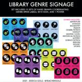 Book Genre - Spine Labels & Signage