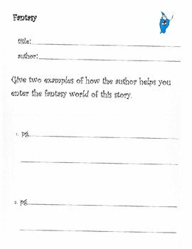 Genre Passport Journal with 6+1 Writing Traits focus