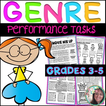 Genre Performance Tasks Printables 4th and 5th Grade Practice & Rotation Work