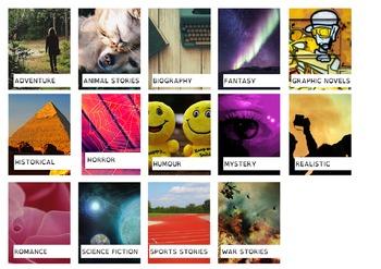 Genre Photo Spine Labels