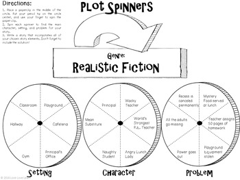 Genre Plot Spinners Writing Activity