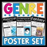 Literary Genres Posters - Genre Posters Anchor Charts - (72 Different Genres)