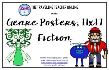 Fiction Genre Posters, 11x17