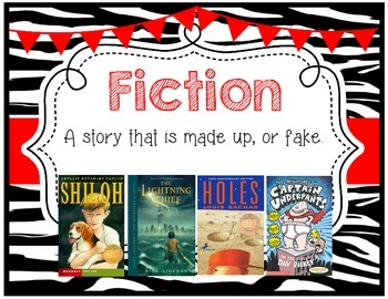 Genre Posters {17 Posters} 3rd, 4th, 5th, 6th, 7th Grade, Zebra Theme, Red