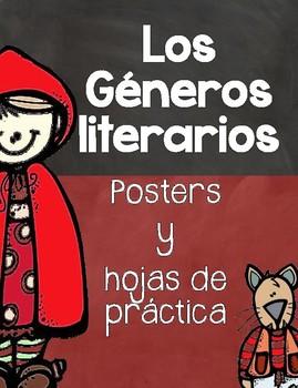 Genre Posters & Activities- Posters de Géneros Literarios y Actividades