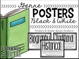 Genre Posters Black & White, Editable