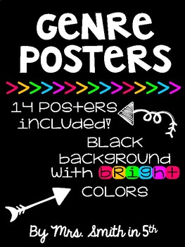 Genre Posters: Black with BRIGHTS
